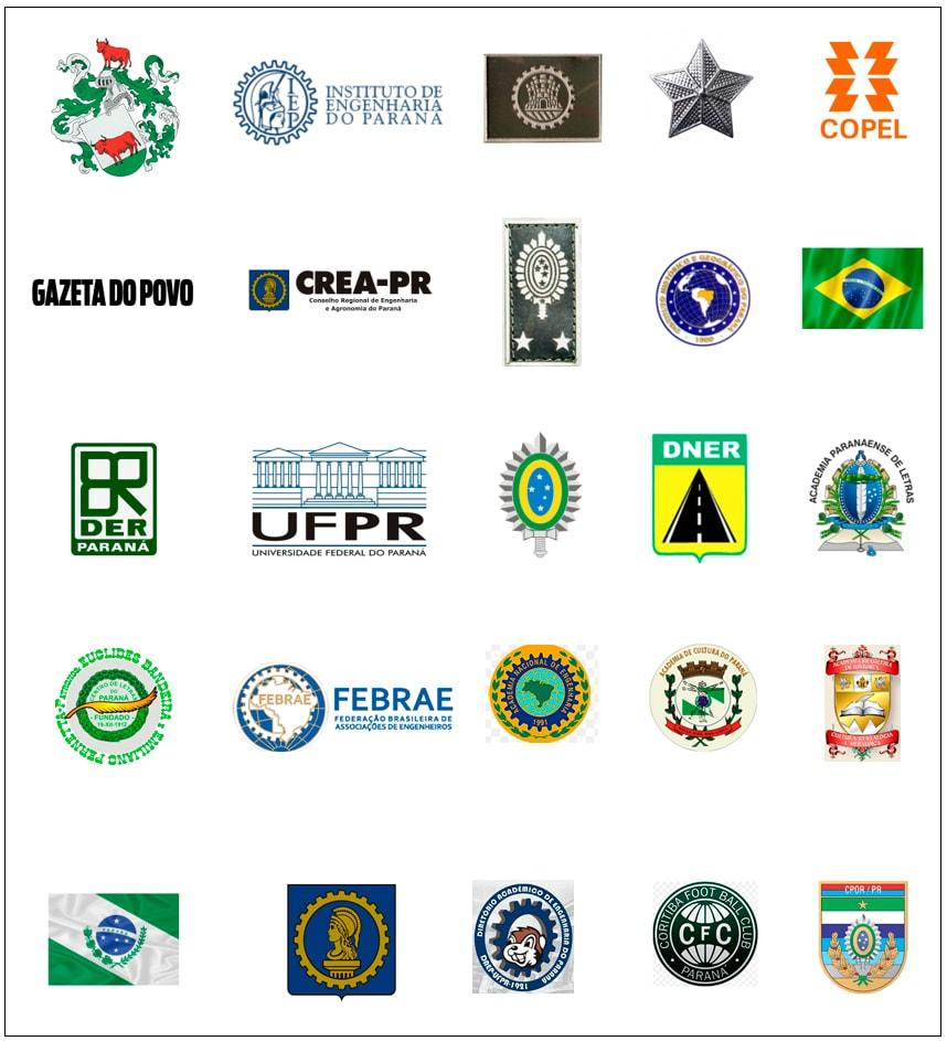 Emblemas que contam a história e a trajetória da vida de Luiz Carlos Pereira Tourinho