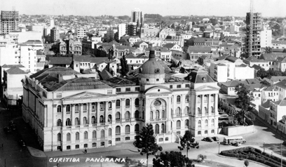 Universidade do Paraná, atual UFPR, Praça Santos Andrade, 1941