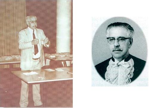 Luiz Carlos Pereira Tourinho com palestrante no IEP (esquerda) e como Paraninfo (direita)